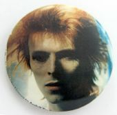 David Bowie - 'Head' Large Button Badge